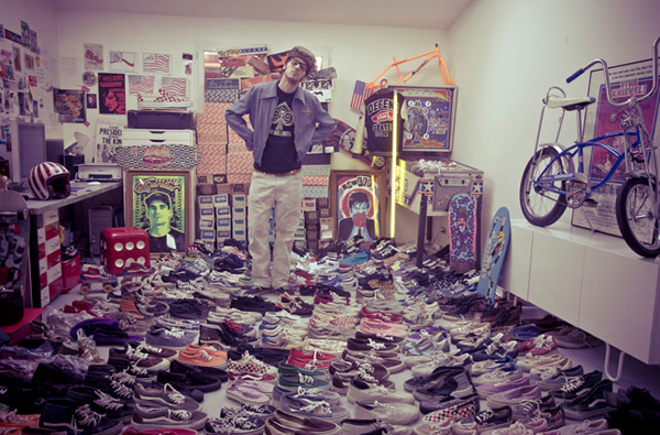 Photo de Légende : Dimitri Coste et son incroyable collection de Vans Made in USA