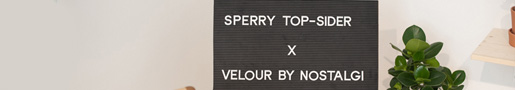 Sperry Top Sider x Velour By Nostalgi